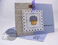 thinking of spring violets by StarLitStudio - Cards and Paper Crafts at Splitcoaststampers Ink Stamps, Flower Cards, Creative Cards, Damasks, Paper Crafts, Violets, Spring, Handmade Cards