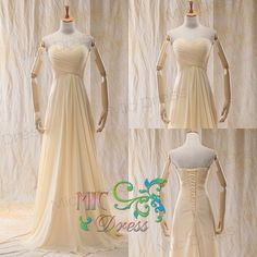 Geogrous chiffon pleated with lace up back pleated by MicDress, $99.00