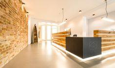 Fixed Dental Office Window Cheap Bookshelves, Office Floor Plan, Office Waiting Rooms, Dental Office Decor, Office Entrance, Office Paint, Modern Interior, Interior Design, Dental Office Design