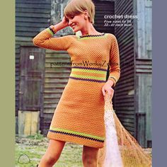 Crochet Granny Dress Pattern Vintage PDF 277 from WonkyZebra