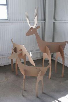 manualidades de cartón para navidad renos #homedecor #decoration #decoración #interiores