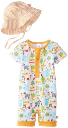 Zutano Baby-Boys Infant What A Zoo Henley Bodysuit and Sun Hat Set - Listing price: $43.50 Now: $29.99