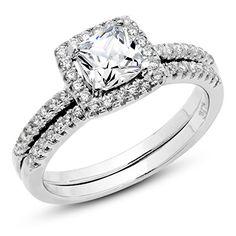 925 Sterling Silver Cushion Cubic Zirconia CZ 2Pc Halo Wedding Engagement Ring Set Sz 4 Metal Factory http://www.amazon.com/dp/B00VGVPTMG/ref=cm_sw_r_pi_dp_aZNxvb0BMYJ1N