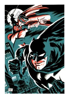 Batman and Robin by Michael Cho