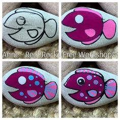 Painted Rock Cactus, Painted Rocks Craft, Hand Painted Rocks, Rock Painting Patterns, Rock Painting Ideas Easy, Rock Painting Designs, Pebble Painting, Pebble Art, Stone Painting