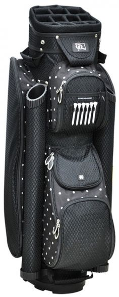 Polk-A-Dot RJ Sports Ladies Boutique Golf Cart Bag available at Lori's Golf Shoppe