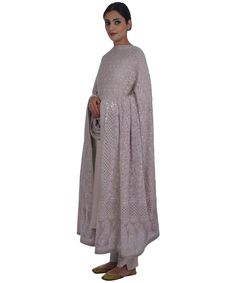 Hazelnut Pure Georgette Chikankari With Kamdani Dupatta Heritage Crafts, Saree, Pure Products, Wine, Sweaters, Collection, Dresses, Fashion, Vestidos