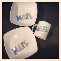 Nuevos platos de porcelana personalizados www.grisalla.com