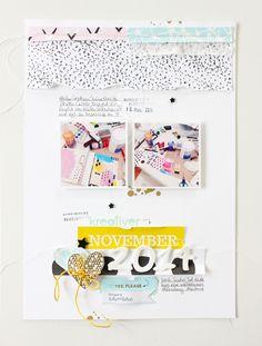 #Papercraft #Scrapbook #Layout. mit Ashley Goldberg Papieren (Studio Calico)