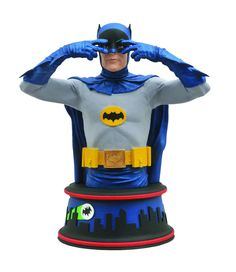 A Diamond Select Toys release Based on the classic TV Series Depicts Adam West as Batman tall resin bust Base inspired by the show's animated opening Batman 1966, Batman Vs, Batman Tv Show, Adam West, Show Dance, Dance Moves, Classic Tv, Comic Book Heroes, Classic Collection
