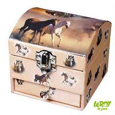 Boîte à bijoux cheval avec tiroir Leroy du jouet