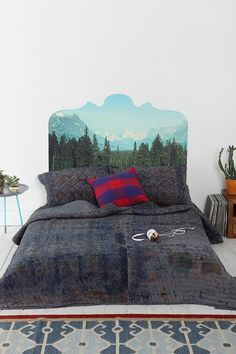 Magic Mountain Headboard Wall Decal