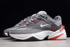 1cb754c978b2e9 Nike M2K Tekno Techno Future Gunsmoke White Chunky Dad Shoes-5