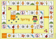 Oca Tablero primavera Spring Activities, Activities For Kids, Crafts For Kids, Card Games For Kids, Teaching Social Skills, English Games, Languages Online, Learn German, Toddler Play