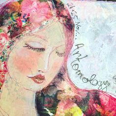 Mixed Media Artwork, Mixed Media Canvas, Collage, In The Flesh, Smile Face, Journal Pages, Watercolor Tattoo, Artist, Cards