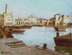 Sophus Theobald Levinsen, peintre danois (1869 /1943) Titre « L'Amirauté d'Alger »