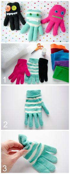 Homemade Softie Tutorials ---  Glove Monster Softie