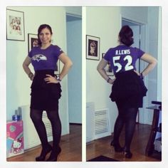 Baltimore Ravens Nike Fitted Shirt black puplum skirt black nylon black pumps... Team spirit to wear at the office.