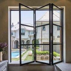 Atelier Domingue Architectural Metalcrafts based out of Houston, TX Atelier Domingue Steel Windows and Doors – Greige Design Custom Home Builders, Custom Homes, Italian Cottage, Screened Porch Designs, Steel Doors And Windows, Home Design Magazines, Home Room Design, House Design, Floors And More