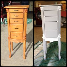 Annie Sloan Chalk Paintcheap Walmart jewelry armoire redone in Old