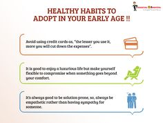 Healthy habits to follow....