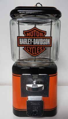 1960's Harley Davidson themed Oak Acorn model gumball machine.