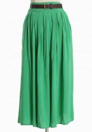 living belted skirt in green from shopruche.com