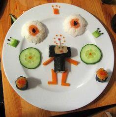 Yemek Süsleme Sanatı | Leylara - Her şey burada! Sushi, Breakfast, Food, Morning Coffee, Meals, Morning Breakfast