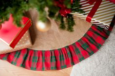 Different colors, obviously. Link is broken. credit-Holiday Plaid Tree Skirt - LeSuer Gift Company