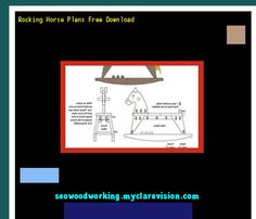 Rocking Horse Plans Free Download 075849 - Woodworking Plans and Projects!
