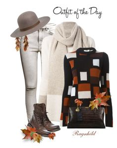 """""""Dagen antrekk / Today's Outfit"""" by ragnh-mjos ❤ liked on Polyvore featuring H&M, Loro Piana, Steve Madden, Ashley Pittman, Brixton, Petit Bateau, Fendi and outfitoftheday"""