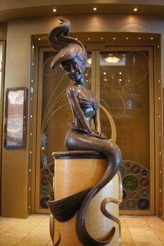 Ariel Statue on the Disney Wonder