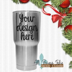 Selling tumblers for Christmas? Well here is an easy to use mock-up to boost your sales :)