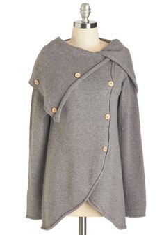 Satisfied Speechwriter Cardigan in Grey. Watch the success of your labor from the stage wings, wrapped up in this grey cardigan and smiling at your achievements! #grey #modcloth