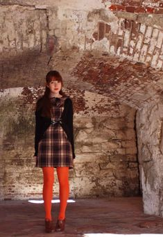 Where Time Hovers Ghostlike - A Clothes Horse Orange Tights, Colored Tights, Clothes Horse, Hipster, Cottage, Style, Fashion, Swag, Moda