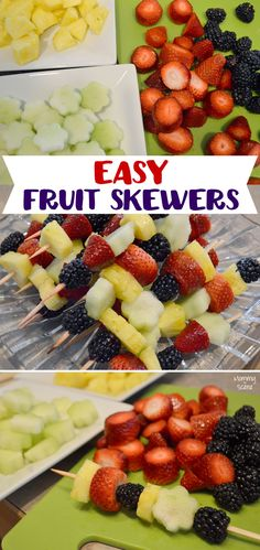 Pretty Fruit Skewers for any kids' party - Mommy Scene