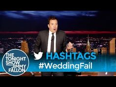 The Tonight Show Starring Jimmy Fallon: Hashtags: Jimmy Fallon Hashtags, Jimmy Fallon Videos, Jimmy Fallon Show, Hashtag The Panda, Wedding Fail, Seriously Funny, Tonight Show, Funny Clips, Popsugar