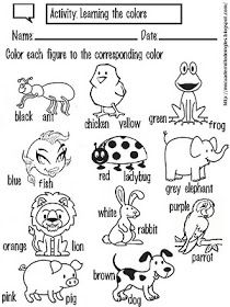Learning the colors with the animals