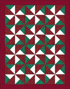 Snowman Red Green Quilt Kit Precut Blocks