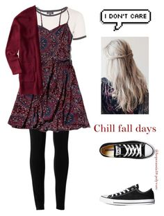 """Chill fall days"" by hopecassia19 ❤ liked on Polyvore featuring Topshop, Max Studio, Abercrombie & Fitch, Aéropostale and Converse"
