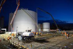 Numurkah GrainCorp 900m3 concrete pour   www.mawsons.com.au