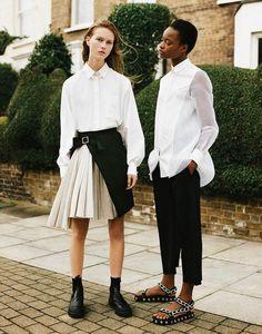 Rebellious Street Style Editorials : Youthful Wardrobe