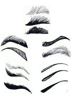 There's all different kinds of eyebrows, too.