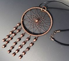 Dreamcatcher necklace My Favorite made of by FlorenHandicrafts, $30.00 #beaded #dreamcatcher #wire