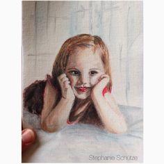 Scrapmanufaktur/Stephanie Schütze - painting of my daughter