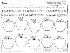 Miss Kindergarten: print and go printables for fall Miss Kindergarten, Kindergarten Activities, Preschool, Learning For Life, Apple Unit, Apple Theme, Teacher Blogs, Teacher Stuff, Learning Numbers