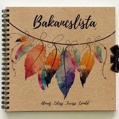 Bakancslista - Emlékkönyv - ajándék születésnapra / ballagásra / diplomaosztóra / karácsonyra / napló - 21x19cm, Naptár, képeslap, album, Esküvő, Jegyzetfüzet, napló, Nászajándék, Fotó, grafika, rajz, illusztráció, Könyvkötés, Meska Presents For Him, Paper Crafts, Scrapbook, Halloween, Christmas, Gifts, Diy, Xmas, Presents