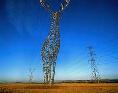 Deer-Shaped Electrical Towers