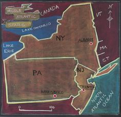 5th Grade: US Geography; Middle Atlantic States