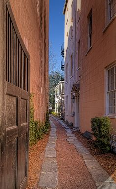 Charleston, South Carolina  ~ Even the alleyways are picture perfect.